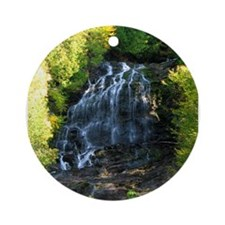 Funny Waterfall Ornament (Round)