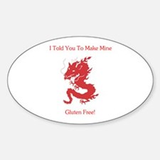 Gluten Free Dragon Oval Decal