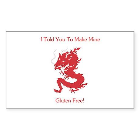Gluten Free Dragon Rectangle Sticker