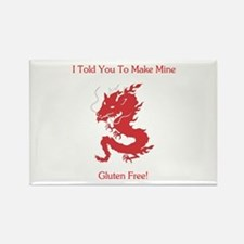 Gluten Free Dragon Rectangle Magnet