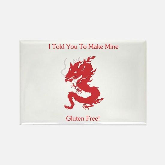 Gluten Free Dragon Rectangle Magnet