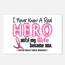 Never Knew A Hero 4 PINK (Wife) Postcards (Package
