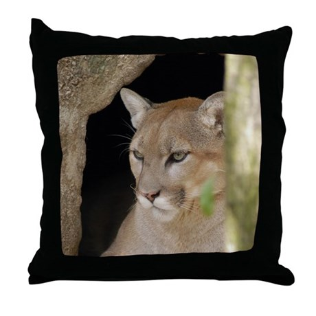 Cougars Throw Pillow