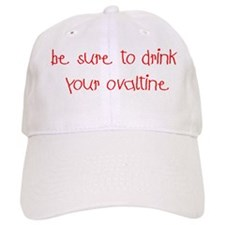 Drink Your Ovaltine Red Baseball Cap