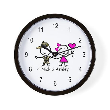 Camouflage & Heart - Nick & Ashley Wall Clock
