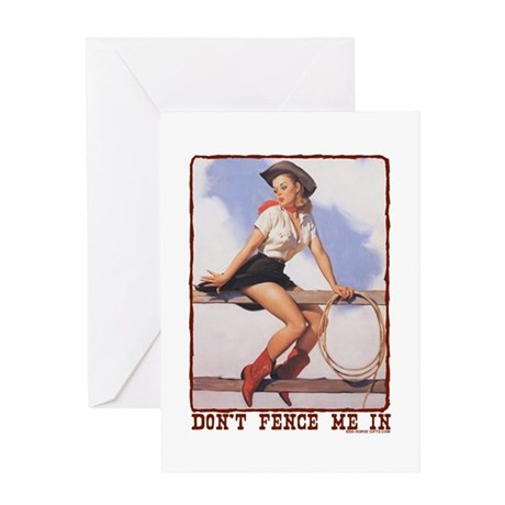 Cowgirl Don't Fence Me In Greeting Card