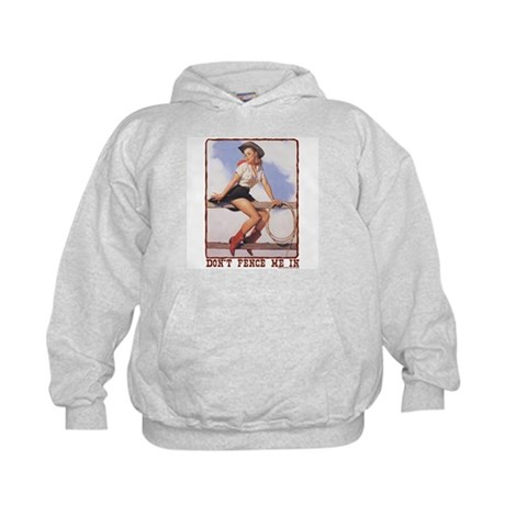 Cowgirl Don't Fence Me In Kids Hoodie