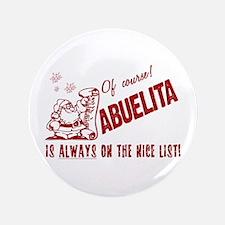 "Nice List Abuelita 3.5"" Button (100 pack)"