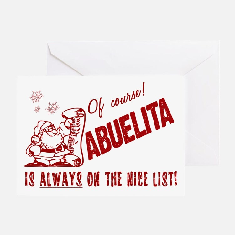 Nice List Abuelita Greeting Card