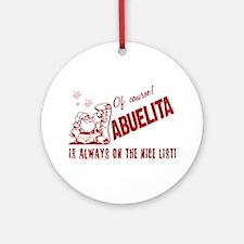 Nice List Abuelita Ornament (Round)