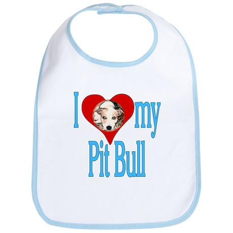 I heart my Pit Bull /blue Bib