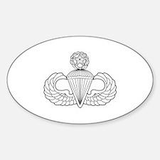 Parachutist Oval Decal
