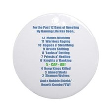 12 Days of Questing Ornament (Round)