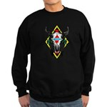 Tribal Cow Skull Sweatshirt (dark)