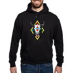 Tribal Cow Skull Hoodie (dark)