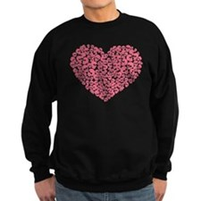 Pink Heart of Skulls Sweatshirt