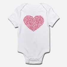 Pink Heart of Skulls Infant Bodysuit