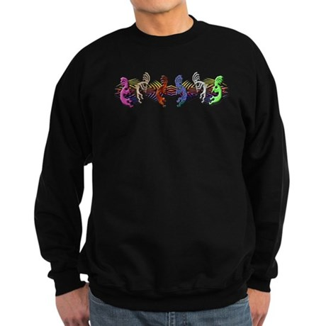Colorful Kokopelli Banner Sweatshirt (dark)