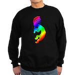 Rainbow Kokopelli Sweatshirt (dark)