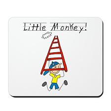 Stick Figure Little Monkey Mousepad