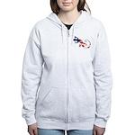 Gecko Patriotic Women's Zip Hoodie