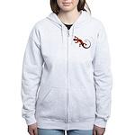 Fire Red Gecko Women's Zip Hoodie