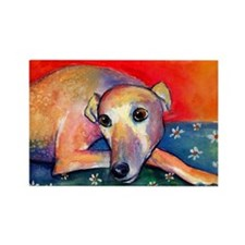 Greyhound dog 2 Rectangle Magnet (10 pack)