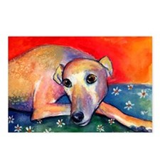 Greyhound dog 2 Postcards (Package of 8)