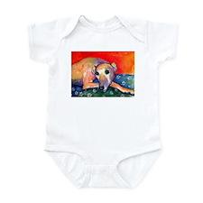 Greyhound dog 2 Infant Bodysuit
