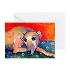 Greyhound dog 2 Greeting Cards (Pk of 10)