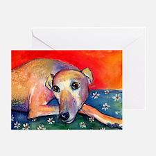 Greyhound dog 2 Greeting Cards (Pk of 10)