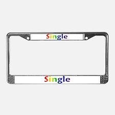 """Single"" License Plate Frame"