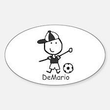Soccer - DeMario 09 Oval Decal