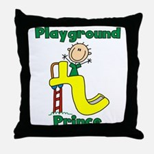 Playground Prince Throw Pillow
