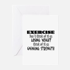 Unique Fitness holiday Greeting Cards (Pk of 20)