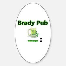 BRADY PUB Oval Decal
