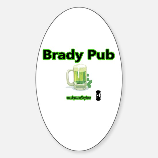 BRADY PUB Oval Decal