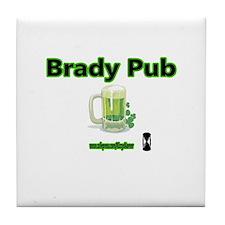 BRADY PUB Tile Coaster