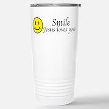 Smile Jesus Stainless Steel Travel Mug