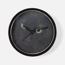 Black Cat Eyes Wall Clock