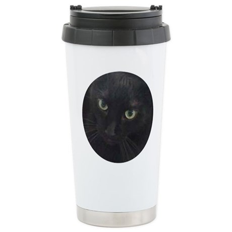 Black Cat Eyes Stainless Steel Travel Mug