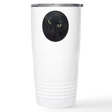 Black Cat Eyes Travel Mug