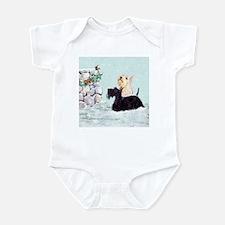 Scotties and Wren Winter Infant Bodysuit
