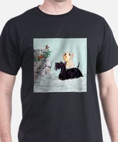 Scotties and Wren Winter T-Shirt