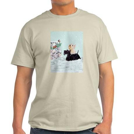 Scotties and Wren Winter Light T-Shirt