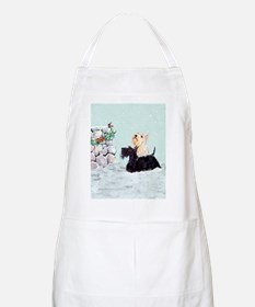 Scotties and Wren Winter Apron