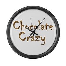 Chocolate Crazy Large Wall Clock