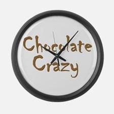 Chocolate Crazy Large Wall Clock