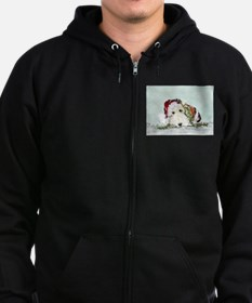 Fox Terrier Christmas Zip Hoodie