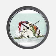 Fox Terrier Christmas Wall Clock